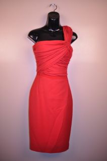 Giambattista Valli 2010 Runway Red One Shoulder Dress 38 $2800