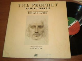 Kahlil Gibran The Prophet LP VG Atlantic SD 18120