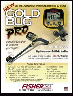 Gold Bug Pro Metal Detector Treasure Wise Headphones Pouch and Digger