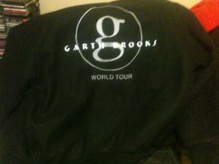 Garth Brooks World Tour Black Recycled Wool Jacket XL