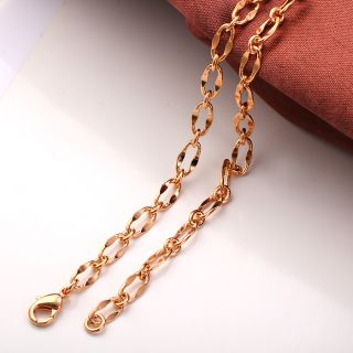 19 7 9K Rose Gold Filled Womens Chain Necklace D052