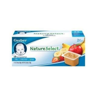 Gerber Nature Selects 2nd Foods Fruit Puree Lot of 36 All Natural Baby