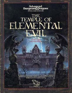 Advanced Dungeons & Dragons Module T1 4 Elemental Evil 9147 TSR