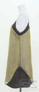 Geren Ford Green Blue Iridescent Silk Sleeveless Dress Size Medium
