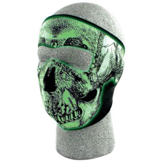 GLOW IN THE DARK SKULL NEOPRENE COLD WEATHER FULL FACE MASK   Skiing