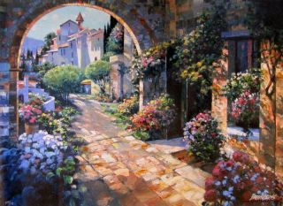 Howard Behrens Under The Tuscan Sun Embellished Canvas