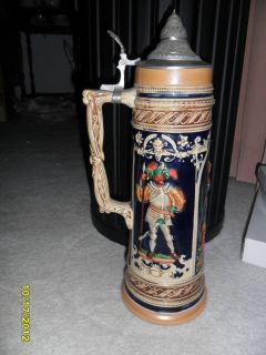 German Lidded Beer Stein 1959