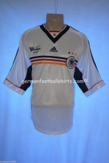 Adidas Germany Soccer Jersey 1998 Home Player Issue Football Shirt