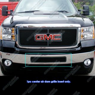 2011 2012 GMC Sierra 2500 3500 HD Black Stainless Steel Mesh Grille
