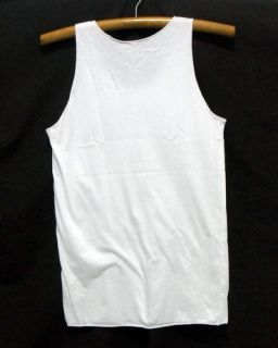 New David Bowie Singlet Tank Top Shirt Vintage Rock Tour White 35 M