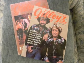 Gilleys Magazines Primier Issue 1981 the other signed by Mickey Gilley