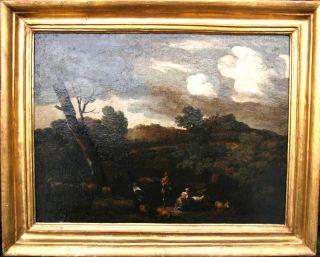 Gaspard Dughet C1670 Art French Old Master Italian Landscape Oil