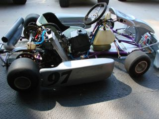 Racing Go Kart w Rebuilt 125cc Rotax Motor Hase Chassis