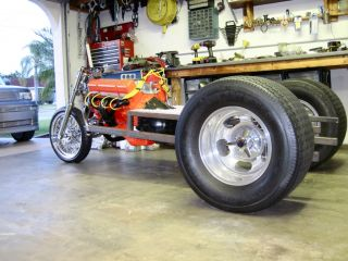 V8 Trike Frame Pro Street Hot Rod Gasser TIG Welded Ready for Your SBC