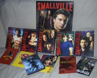 Lot SMALLVILLE Dvd Complete Set Season 1 2 3 4 6 BONUS Calendar Tom