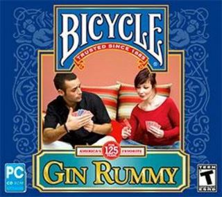 Bicycle Gin Rummy Card Game PC XP Vista Win7 New SEALED