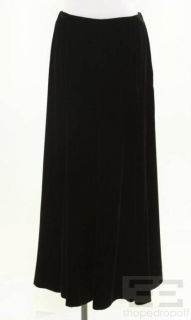 Giorgio Armani Black Velvet Full Length Skirt Size 42