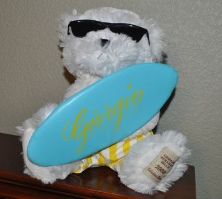 Giorgio Beverly Hills OH SO SOFT 2008 surfboard plush teddy bear