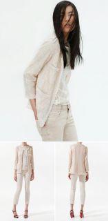 Vintage Trendy Gauze womens Bling Bling Sequin Cardigan/Blazer/Suit