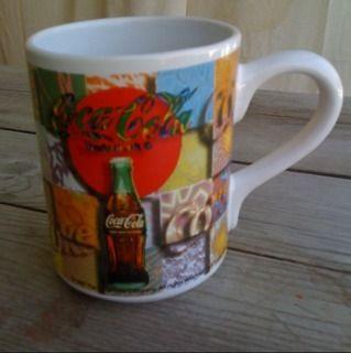 Gibson Coca Cola Coke Coffee Mug PATCHWORK1997