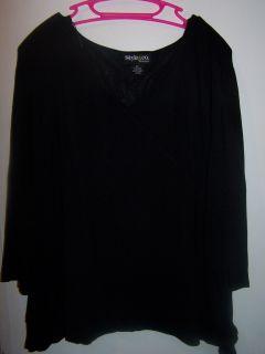 Style Co Womans Black Shirt Size 2X