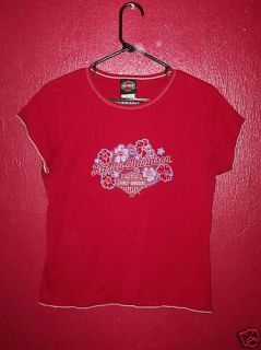 Harley Davidson Orlando Large Red T Shirt w Logo