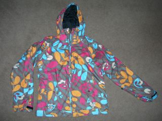 GIRLS SKI COAT JACKET FROM ROXY QUIKSILVER AGE 13 14 VGC WORN FOR 1