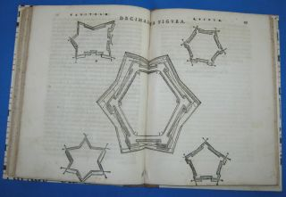 1567 Girolamo Cattaneo Libro Nuouo Di Fortificare Forts Woodcuts
