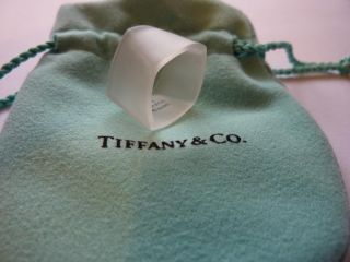Tiffany Co Frank Gehry Torque Square Wide Ring Band Rock Crystal Size