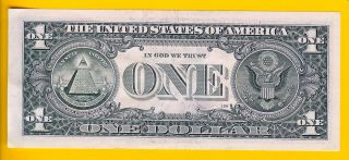 STAR NOTE LOW 640K RUN (KEY) L00416562* 2009 $1 SAN FRANCISCO (FW