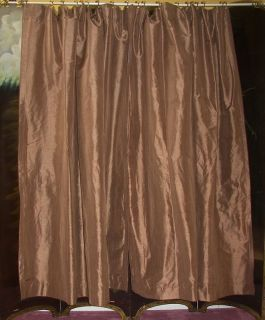 Vintage Paris Apt French Country Victorian Brown Silk Drapes Curtains