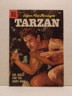 Tarzan #93 Dell Comic Book   Gordon Scott Photo Cover 1957 Edgar Rice