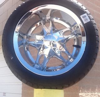 Golf Cart Wheel and Tire Combo 12 inch Chrome New Wheels Sharp