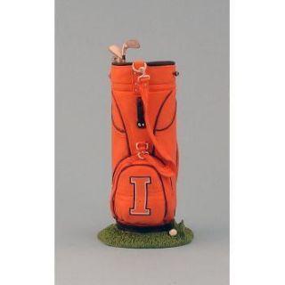Illinois Fighting Illini Golf Bag Pen Pencil Cup Holder