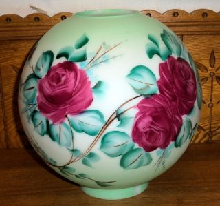 Antique Gone with The Wind Floral Round Lamp Shade