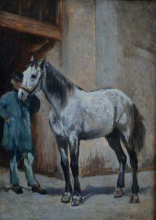 Jules Jacques Veyrassat 1828 1893 French Barbizon Art Oil Painting to