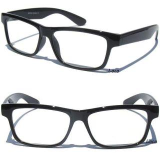 Retro Design Clear Lens Glasses Black Frame Hipster Geek Nerd Style