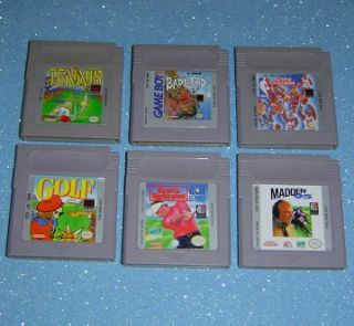 Nintendo GAME BOY SPORTS GAMES mario golf TENNIS NBA allstar challenge