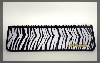Leonardo Travel Heat Resistant Flat Iron Pouch Mat Zebra Print