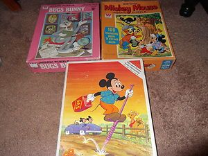 Looney Tunes Bugs Bunny Mickey Mouse Goofy Minnie Mouse Puzzles