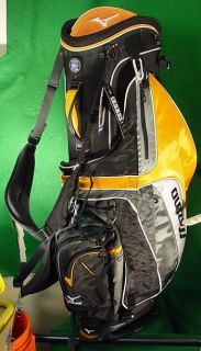 Mizuno Twister III Kabuki Black Gold Golf Stand Bag