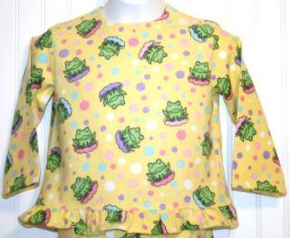 Matching American Girl Doll Pajamas Girls Sz4 6 Pajamas Yellow Flannel