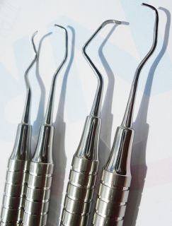 Gracey Curettes Hollow Medical Dental Instrument Set 4 Pcs YNR