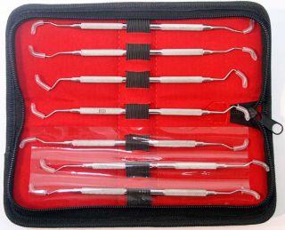 Periodontal Gracey Curettes Set of 7 Pcs Dental Instruments Double