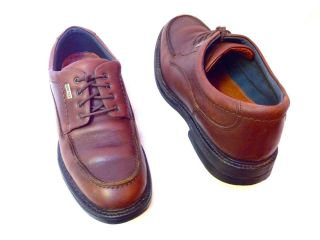 JOHNSTON MURPHY Mens GORE TEX Brown Leather Lace Up Oxfords Shoes 7 M