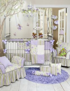 Glenna Jean Viola 6 Piece Crib Set with Mobile Baby Bedding New