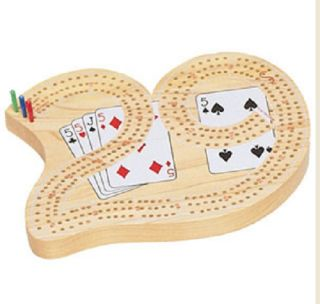 Cribbage Deluxe Wood Board Heirloom Quality Traditional Card Board