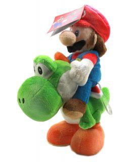 Authentic Brand New Global Holdings Super Mario Plush 8 Mario Riding
