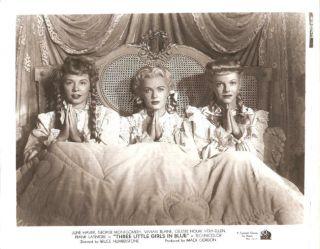JUNE HAVER, VERA ELLEN & VIVIAN BLAINE in Three Little Girls in Blue
