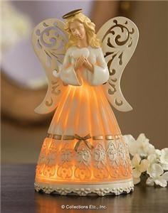 Illuminated Angel Table Figurine Light